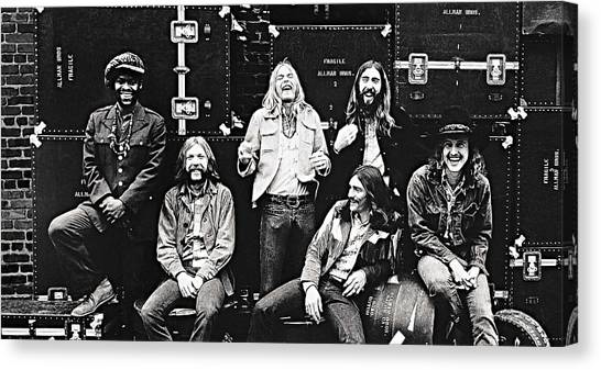 The Allman Brothers Canvas Print - The Allman Brothers Band by Queso Espinosa