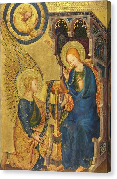 The Annunciation Canvas Print - The Annunciation, 1380 by Unknown