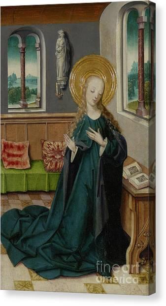 The Annunciation Canvas Print - The Annunciation, 1490 by German School