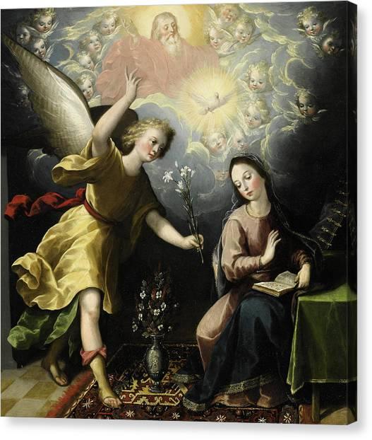 The Annunciation Canvas Print - The Annunciation by Luis Juarez