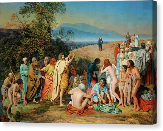 Apparition Canvas Print - The Appearance Of Christ Before The People by Alexander Ivanov