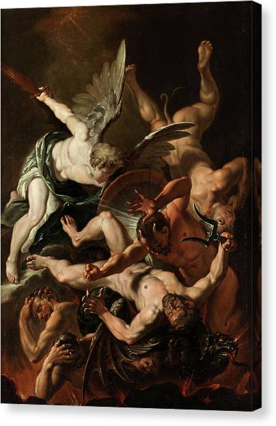 God Of War Canvas Print - The Archangel Michael by 17th Century