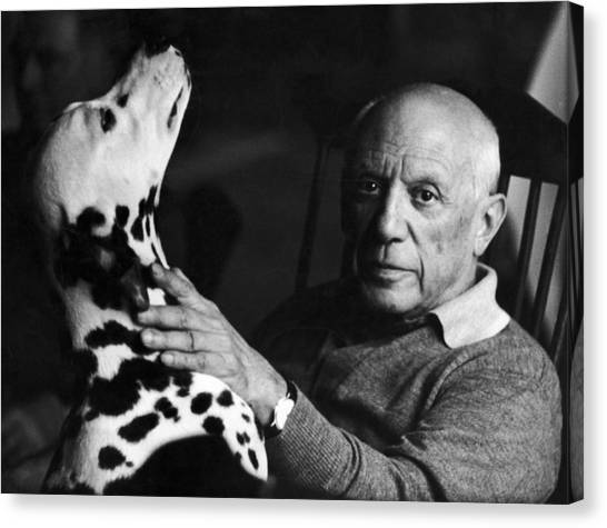 The Artist Pablo Picasso 1881-1973 With Canvas Print