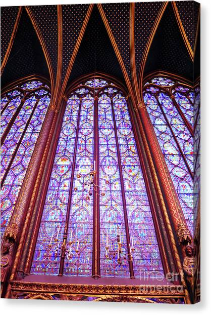 Canvas Print featuring the photograph The Awe Of Sainte Chappelle by Rick Locke