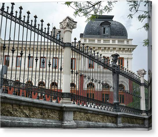 The Back Of The Ministry Of Agriculture Building In Madrid Canvas Print