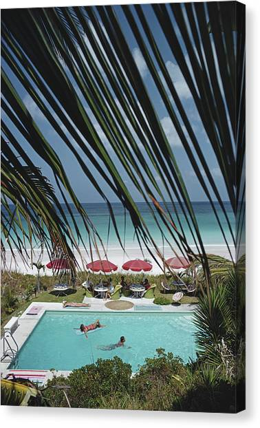 The Bahamas Canvas Print by Slim Aarons