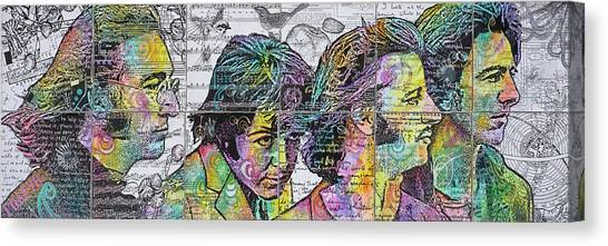 Installation Art Canvas Print - The Beatles Across The Universe by Dean Russo Art