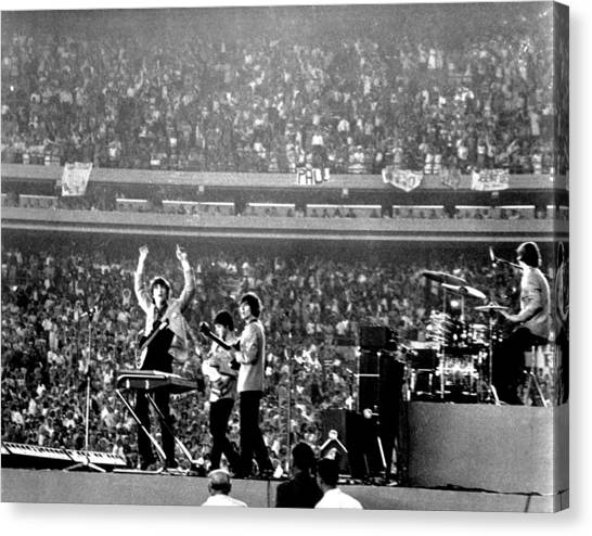 The Beatles Canvas Print by Michael Ochs Archives