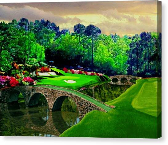 Arnold Palmer Canvas Print - The Beauty Of The Masters 2 by Ron Chambers
