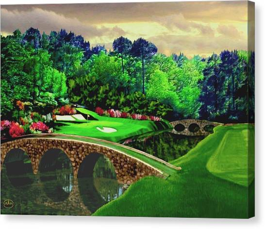 Pga Canvas Print - The Beauty Of The Masters by Ron Chambers