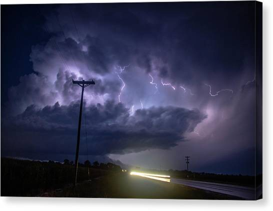 Canvas Print featuring the photograph The Best Supercell Of The Summer 043 by NebraskaSC