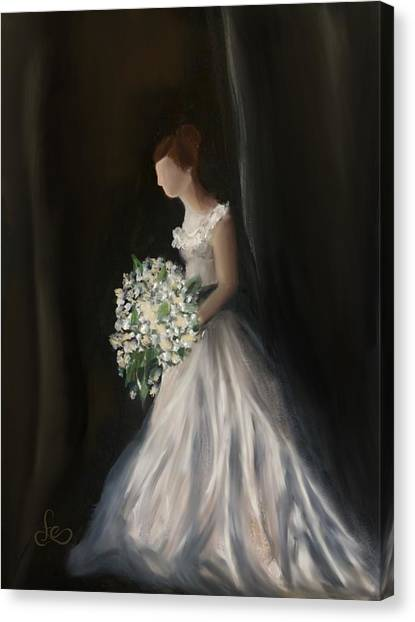 Canvas Print featuring the painting The Big Day by Fe Jones