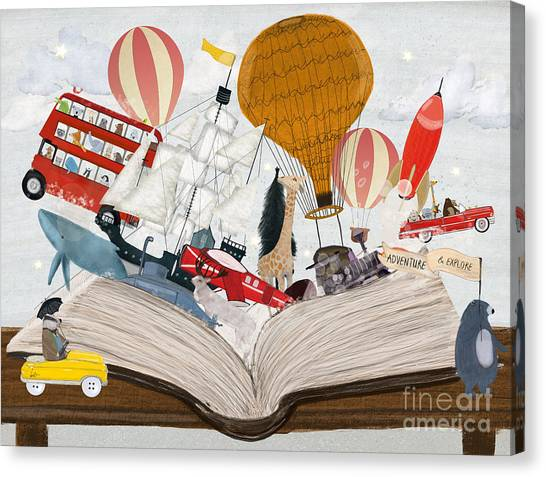 The Big Magic Adventure Book Canvas Print by Bri Buckley