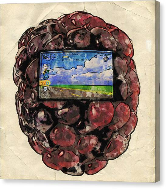 Canvas Print featuring the digital art The Blackberry Concept by ISAW Company