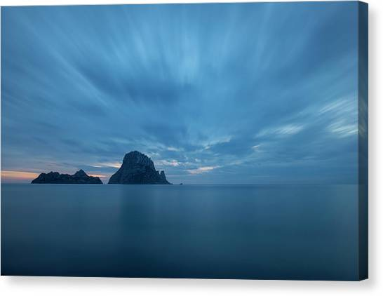 The Blue Hour In Es Vedra, Ibiza Canvas Print