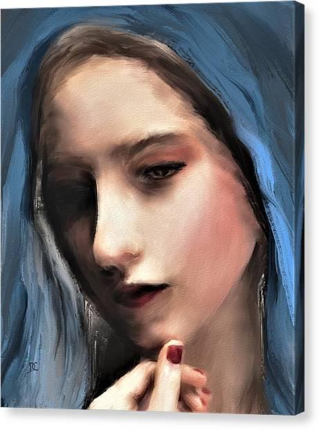 The Blue Scarf Canvas Print