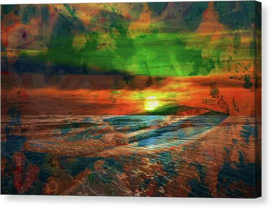 Contemporary Art Canvas Print - The Boatman Of The Sea by Contemporary Art