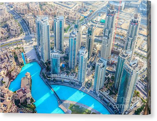 Mall Canvas Print - The Building In The Emirate Of Dubai by Holycrazylazy