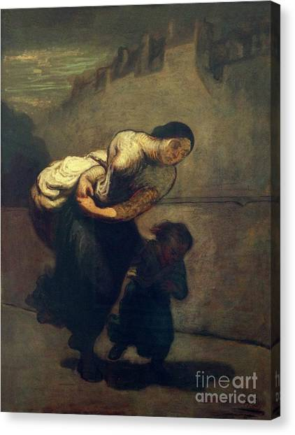 State Hermitage Canvas Print - The Burden, Or Laundress by Peter Barritt