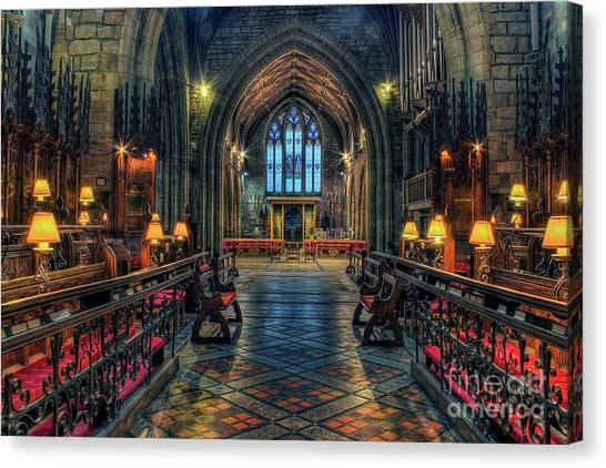 The Cathedral Church Of Saints Asaph And Cyndeym Canvas Print