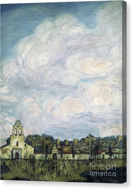 Church Yard Canvas Print - The Cemetery Of Avila by Ignacio Zuloaga y Zabaleta