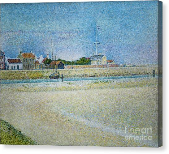 The Channel Of Gravelines Grand Fort Philippe Canvas Print