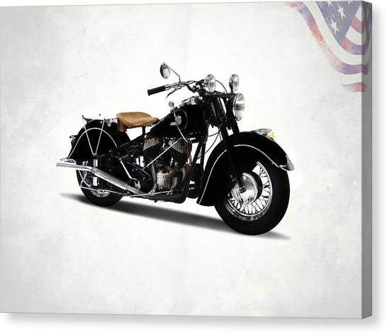 Motorcycle Canvas Print - The Chief 1946 by Mark Rogan