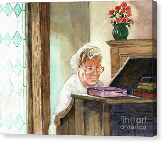 Canvas Print - The Church Organist by Marilyn Smith