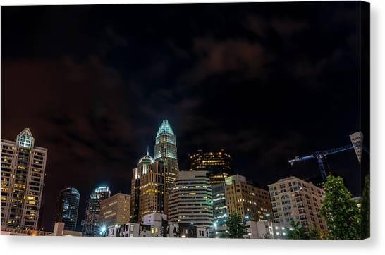 The City Lights Up Canvas Print