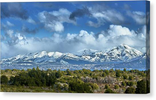 The City Of Bariloche Surrounded By Mountains Canvas Print