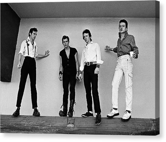 The Clash Portrait Session Canvas Print by George Rose