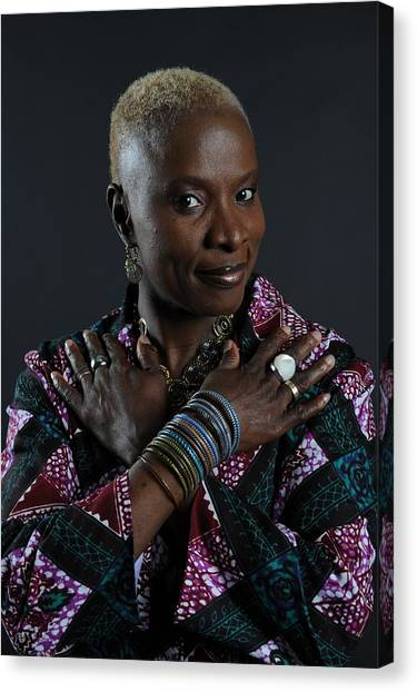 The Close-up Of Angelique Kidjo In Canvas Print
