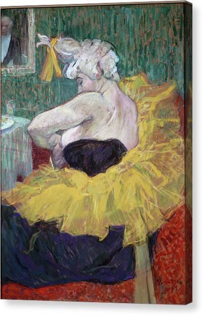 The Clowness Cha-u-kao, By Henri De Canvas Print