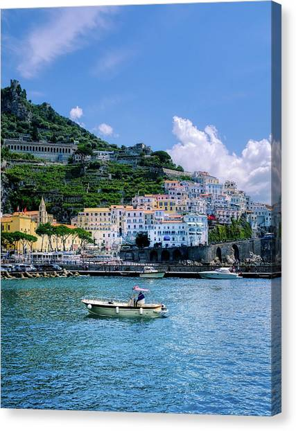 The Colorful Amalfi Coast  Canvas Print