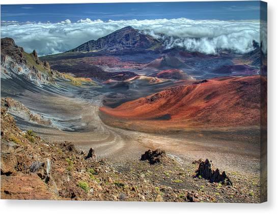 3e33936d1e983 Haleakala Crater Canvas Print - The Colorful Haleakala Crater