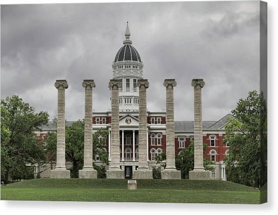 University Of Missouri Canvas Print - The Columns by Corey Cassaw