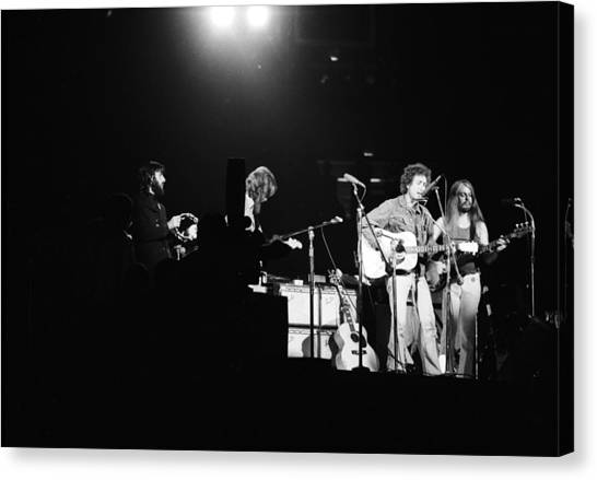 Leon Russell Canvas Print - The Concert For Bangladesh by Bill Ray