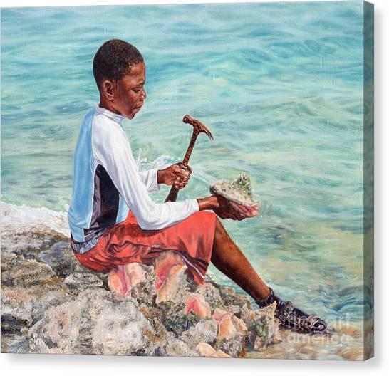 The Conch Boy Canvas Print