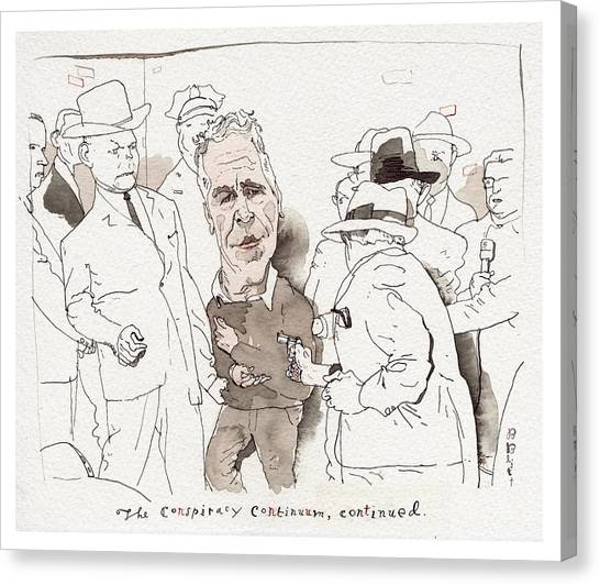 The Conspiracy Continuum Canvas Print by Barry Blitt