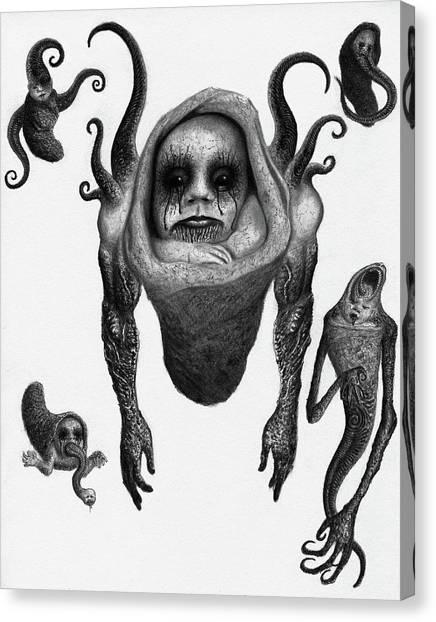 The Corrupted Demon Profile - Artwork Canvas Print