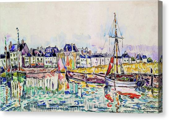 Signac Canvas Print - The Croisic - Digital Remastered Edition by Paul Signac