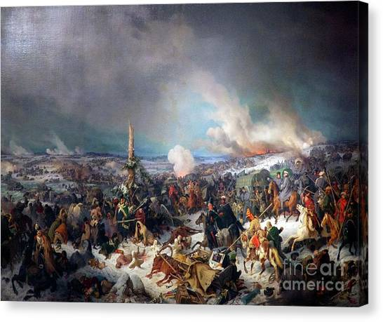 State Hermitage Canvas Print - The Crossing Of The Berezina River by Peter Barritt