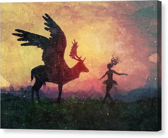 Gothic Art Canvas Print - The Dancers by Mario Sanchez Nevado