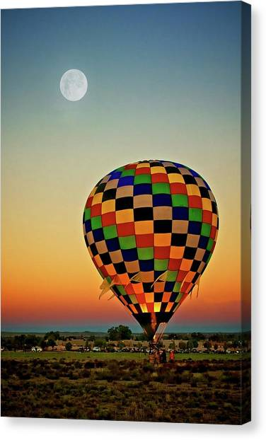 The Dawn Of Light, 2017 Albuquerque International Balloon Festival Canvas Print