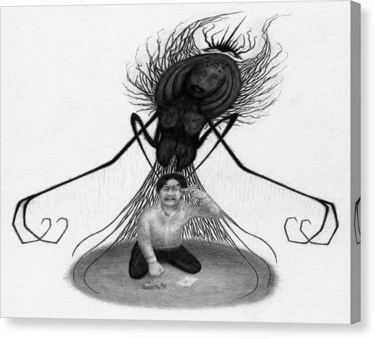 The Demon Left With Him... - Artwork Canvas Print