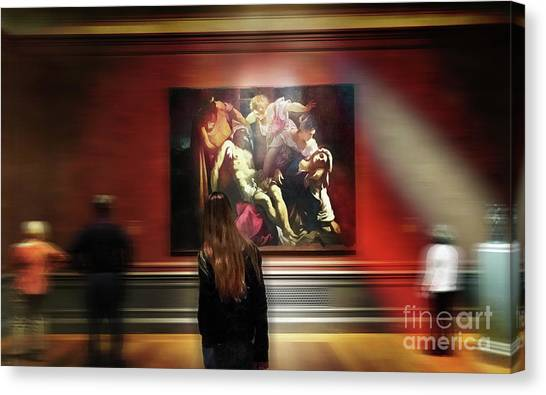 The Deposition Of Christ Canvas Print by Steven Digman