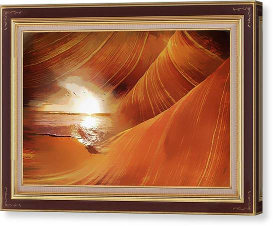 The Desert And The Tide Fantasy Canvas Print