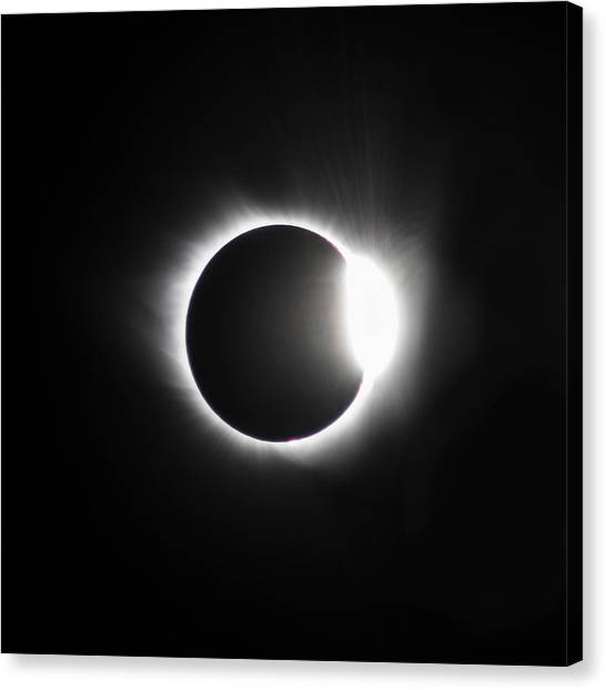 The Diamond Before Totality  Canvas Print by Christine Buckley