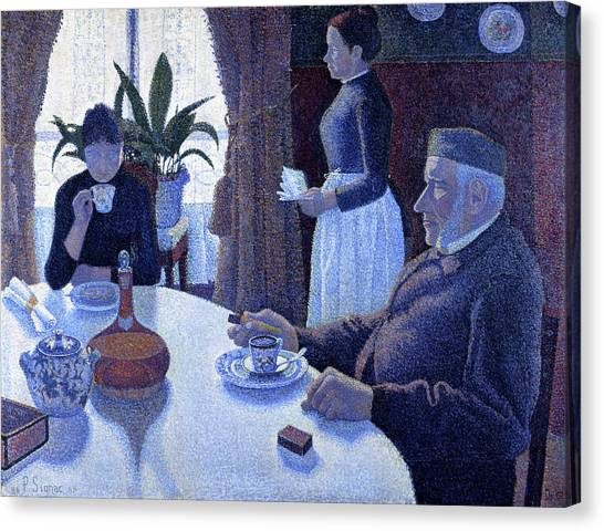 Signac Canvas Print - The Dining Room - Digital Remastered Edition by Paul Signac