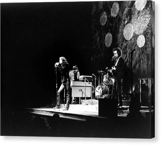 The Doors At The Fillmore East Canvas Print by Fred W. McDarrah